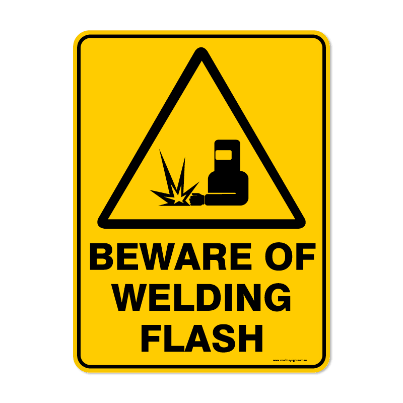 Warning - BEWARE WELDING FLASH