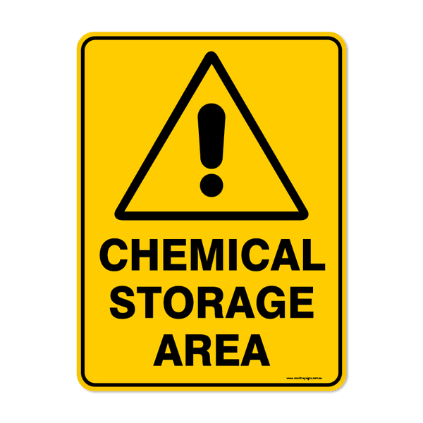 Warning - CHEMICAL STORAGE