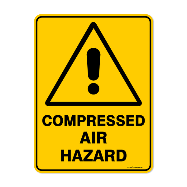 Warning - COMPRESSED AIR