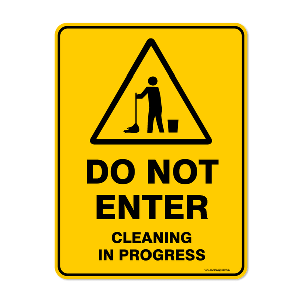 Warning - DO NOT ENTER CLEANING