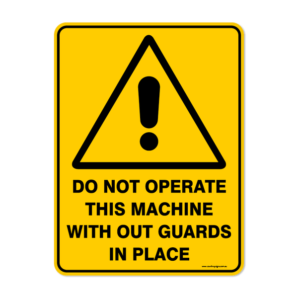 Warning - DO NOT OPERATE