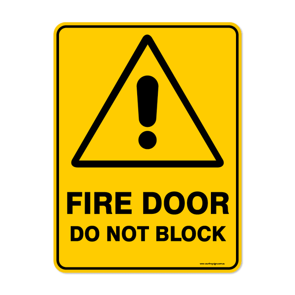 Warning - FIRE DOOR