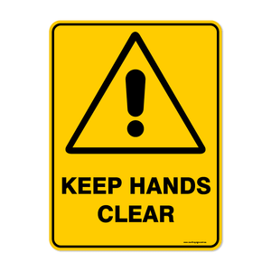 Warning - KEEP HANDS CLEAR