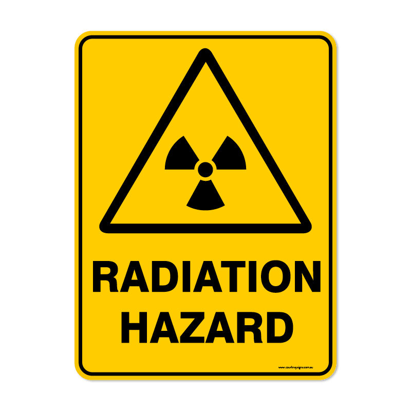 Warning - RADIATION HAZARD