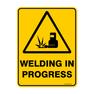 Warning - WELDING IN PROGRESS