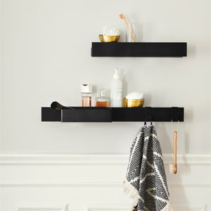Flex magnetic shelf 40 black oak/ black