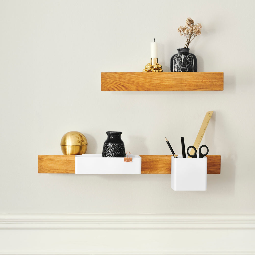 Load image into Gallery viewer, Flex magnetic shelf 40 oak/ white
