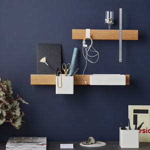 Flex magnetic shelf 40 oak/ white