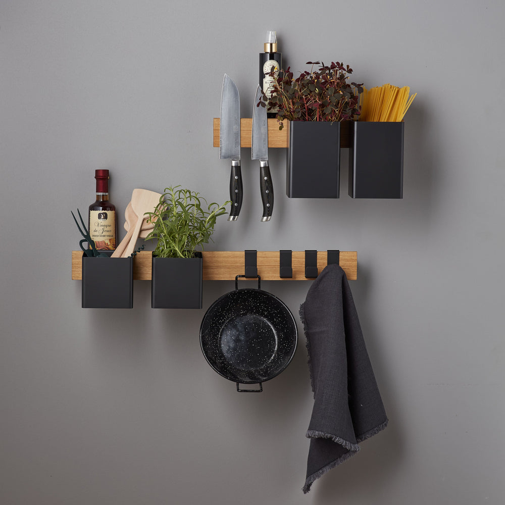 Flex magnetic shelf 40 oak/ black