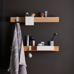 Flex magnetic shelf 60 oak/ white