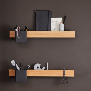 Flex magnetic shelf 60 oak/ black - 1. version