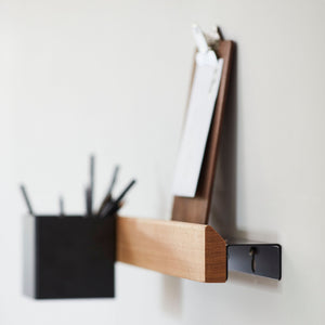 Flex magnetic shelf 60 oak/ black