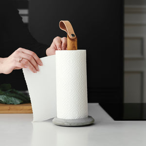 Load image into Gallery viewer, Grab kitchen roll holder oak