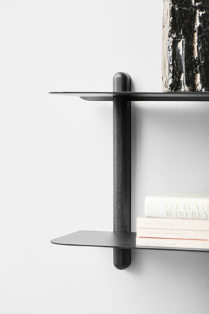 Nivo shelf F black ash/ black