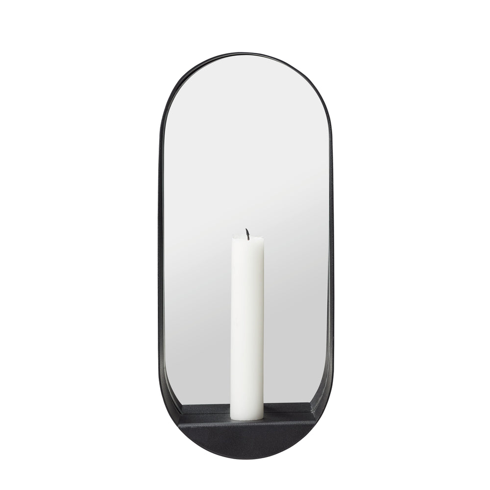 Glim candle mirror oval