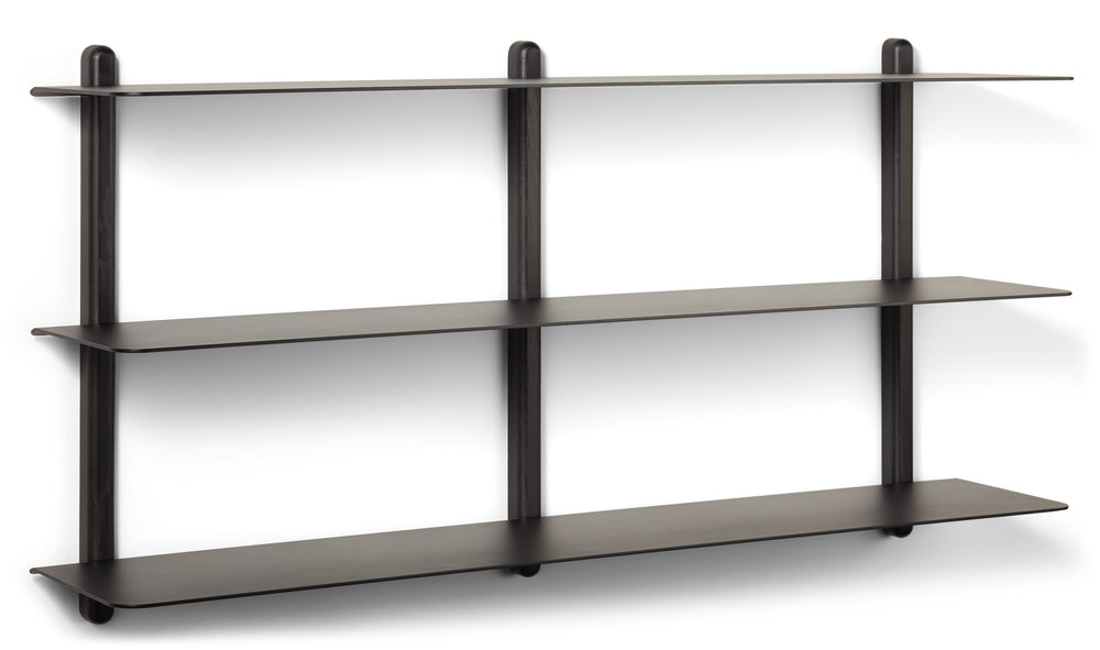 Nivo shelf large D black ash/ black