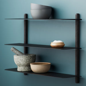 Nivo shelf A black ash/ black