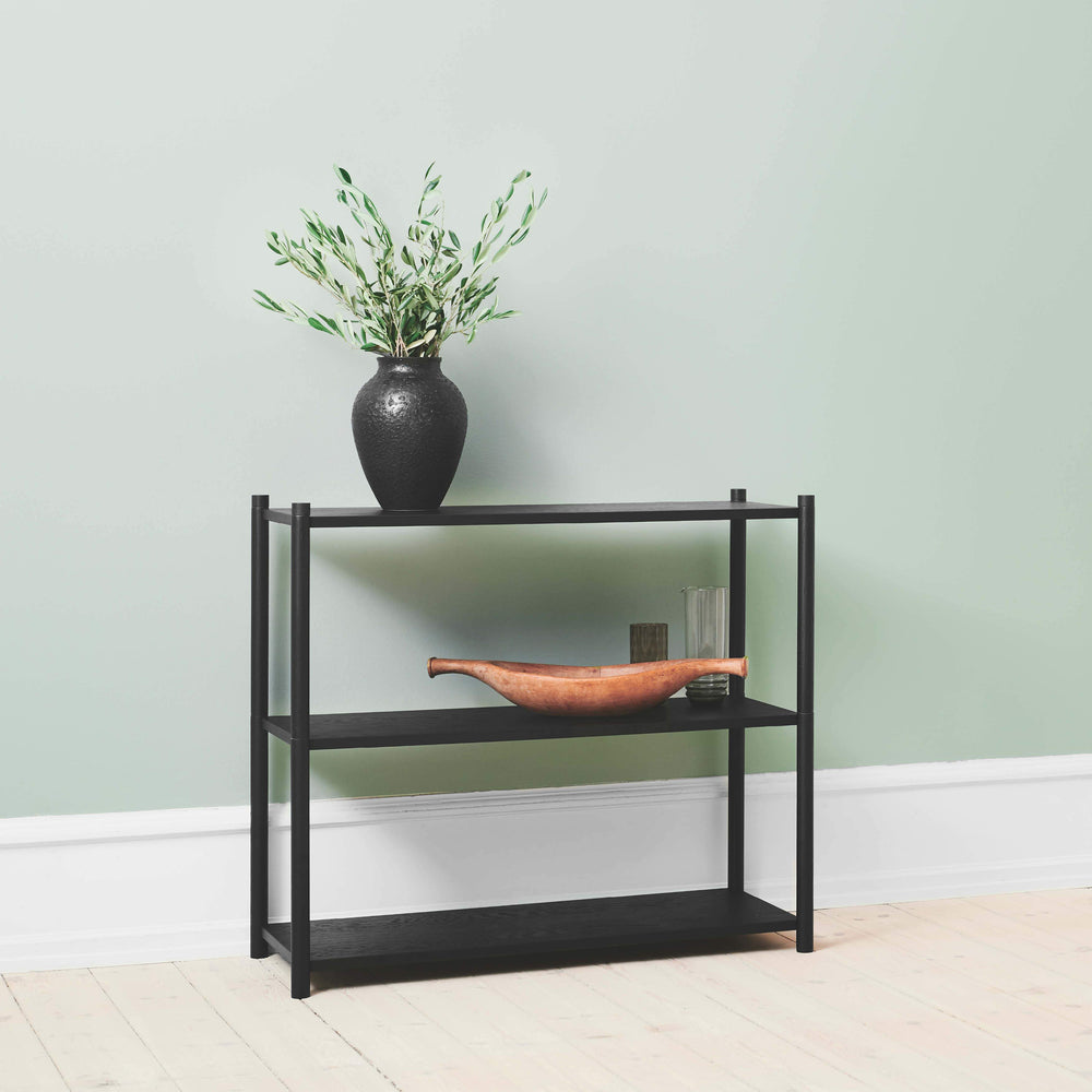 Load image into Gallery viewer, Sceene bookcase A black oak