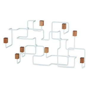 Load image into Gallery viewer, Underground coat rack white/ oak