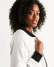 Load image into Gallery viewer, Premium White Collection: Black Queen Women's Bomber Jacket