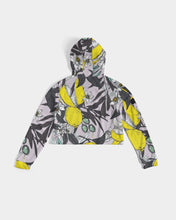 Load image into Gallery viewer, Lemons Women's Cropped Hoodie