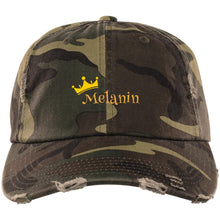 Load image into Gallery viewer, Melanin Queen Distressed Dad Cap