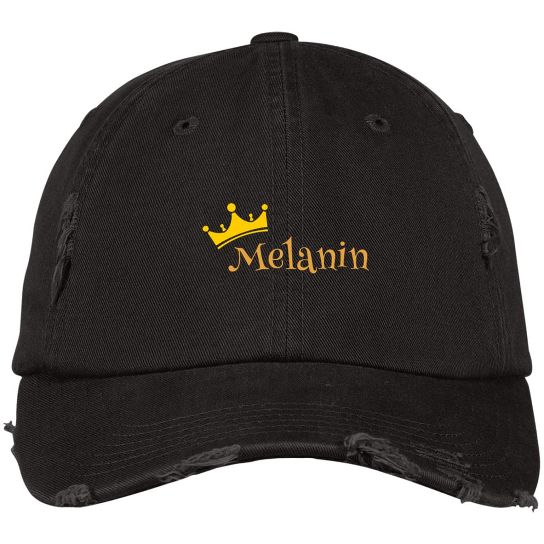 Melanin Queen Distressed Dad Cap