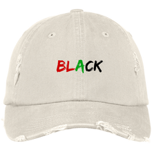 Load image into Gallery viewer, Black Distressed Cap