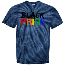 Load image into Gallery viewer, Black Pride 100% Cotton Tie Dye T-Shirt