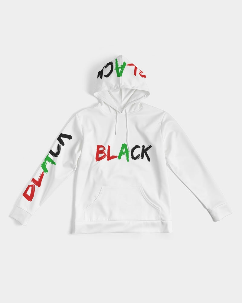 Premium White Collection:  Black Men's Hoodie