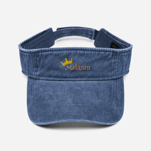 Load image into Gallery viewer, Melanin Queen Denim visor