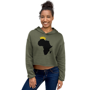 African Kings and Queens Crop Hoodie
