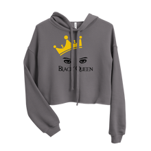 Load image into Gallery viewer, Black Queen Crop Hoodie