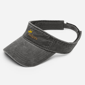 Melanin Queen Denim visor