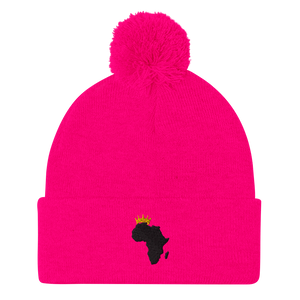 African Kings and Queens Pom-Pom Beanie