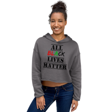 Load image into Gallery viewer, All Black Lives Matter Crop Hoodie