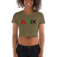 Load image into Gallery viewer, Black Crop Tee