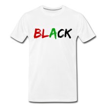 Load image into Gallery viewer, Black Men's Premium T-Shirt - white