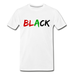 Black Men's Premium T-Shirt - white