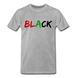 Black Men's Premium T-Shirt - heather gray