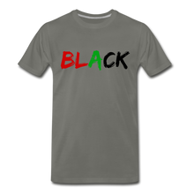 Load image into Gallery viewer, Black Men's Premium T-Shirt - asphalt gray