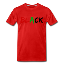 Load image into Gallery viewer, Black Men's Premium T-Shirt - red