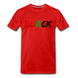 Black Men's Premium T-Shirt - red