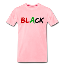 Load image into Gallery viewer, Black Men's Premium T-Shirt - pink