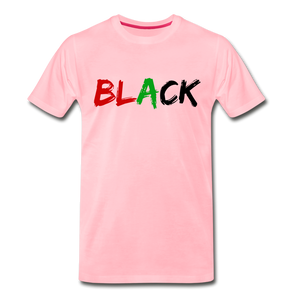 Black Men's Premium T-Shirt - pink