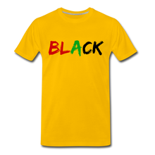 Load image into Gallery viewer, Black Men's Premium T-Shirt - sun yellow