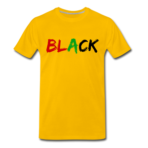 Black Men's Premium T-Shirt - sun yellow