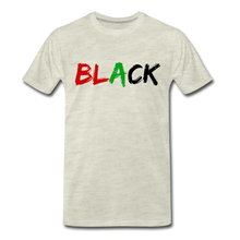 Load image into Gallery viewer, Black Men's Premium T-Shirt - heather oatmeal