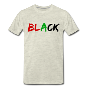 Black Men's Premium T-Shirt - heather oatmeal