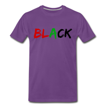 Load image into Gallery viewer, Black Men's Premium T-Shirt - purple